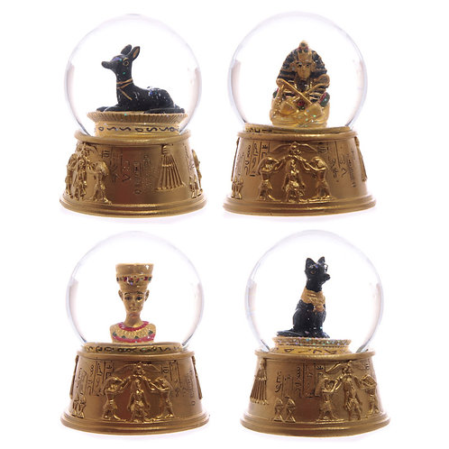 Decorative Gold Egyptian Waterball Snow Globe Novelty Gift