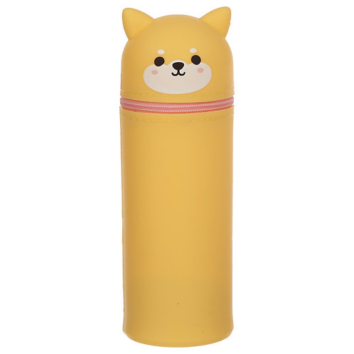 Cutiemals Shiba Inu Dog Silicone Upright Pencil Case Novelty Gift [Pack of 2]