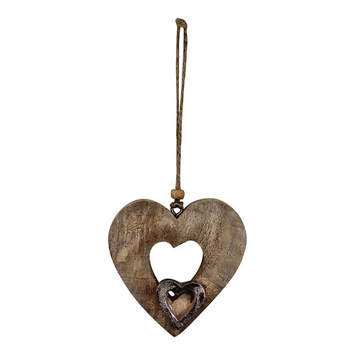 Small Wooden Cut Out Heart Decoration Shipping furniture UK