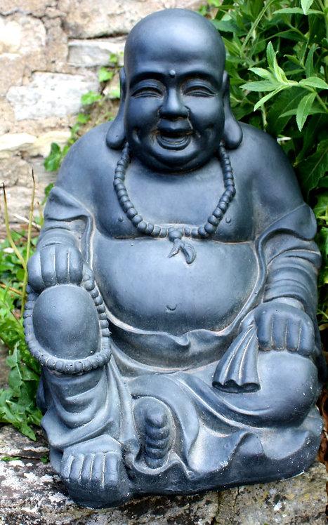 Stone Effect Laughing Buddha Statue Shipping furniture UK