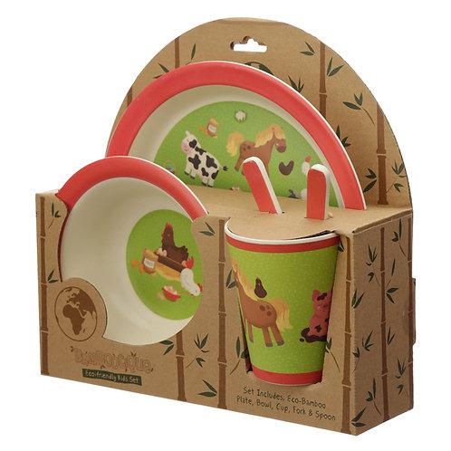 Bamboo Composite Bramley Bunch Farm Reusable Kids Dinner Set Novelty Gift