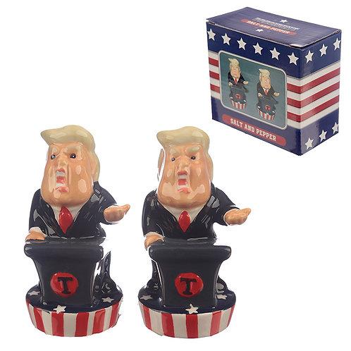 Novelty President Salt and Pepper Set Novelty Gift