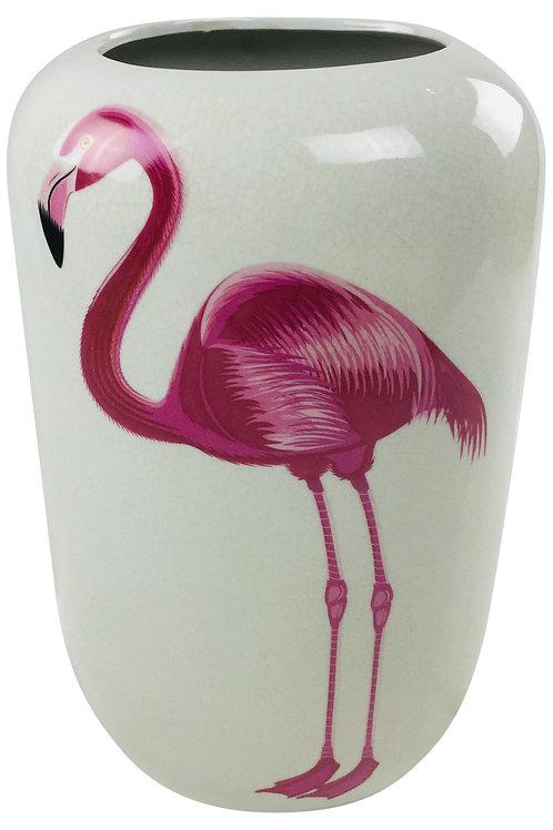 "Ceramic Flamingo Vase 14"" Shipping furniture UK"