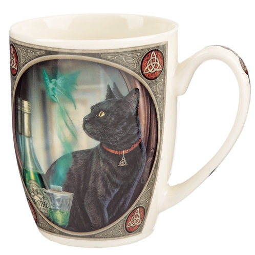 Lisa Parker Porcelain Mug - Absinthe Cat Novelty Gift