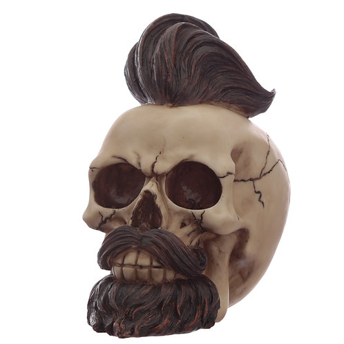 Fantasy Hipster Mohican Skull Ornament Novelty Gift