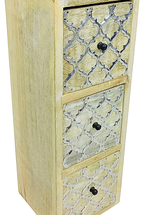 Solid Wood Cabinet With 3 Drawers 36cm Shipping furniture UK