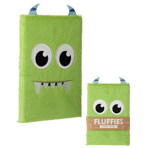 Fluffy Plush Notebook - Monster Design Novelty Gift