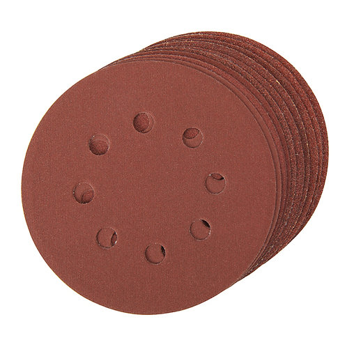 Silverline Hook & Loop Discs Punched 125mm 10pce (Mixed Grit) | DIY Bargains