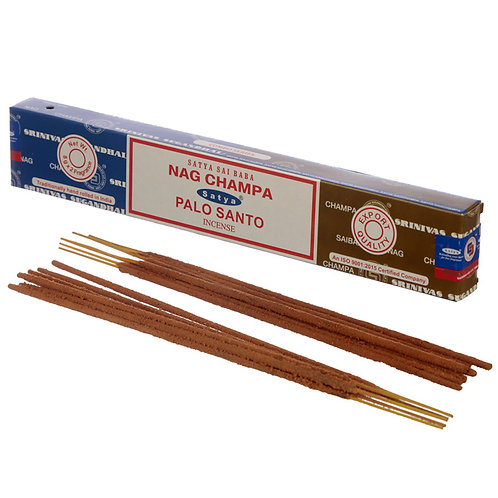 Satya Incense Sticks - Nag Champa & Palo Santo Novelty Gift