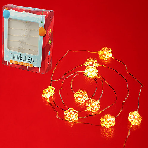 Decorative LED Christmas Fairy Lights - Snowflakes Novelty Gift