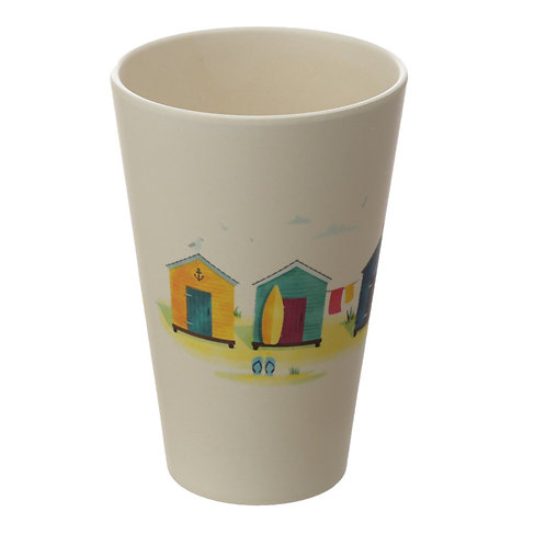 Bamboo Composite Beach Hut Cup Set of 4 Novelty Gift