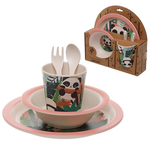 Bamboo Composite Pandarama Kids Dinner Set Novelty Gift