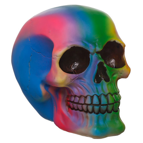 Gothic Rainbow Skull Ornament Novelty Gift