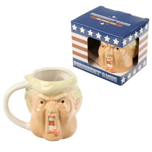 Ceramic Novelty President Shaped Mug Novelty Gift