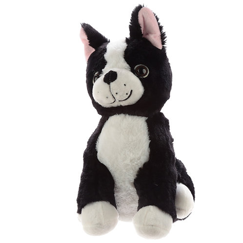 Cute Black and White Dog Plush Door Stop Novelty Gift