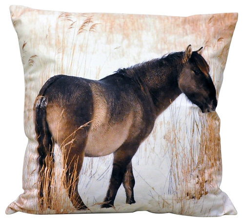 Snow Pony Cushion 45cm Shipping furniture UK