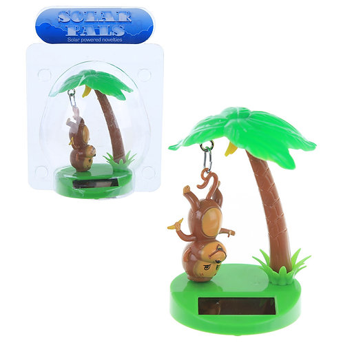 Novelty Gift Fun Monkey and Palm Tree Solar Powered Pal
