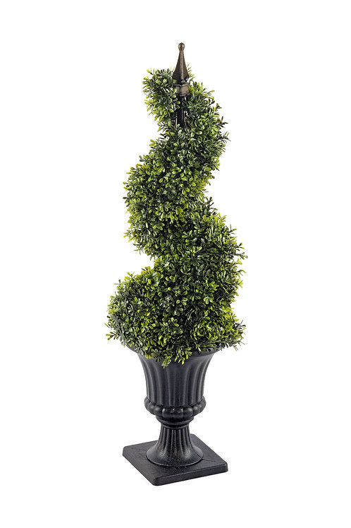 Boxwood Spiral Topiary with Pot 90cm Shipping furniture UK