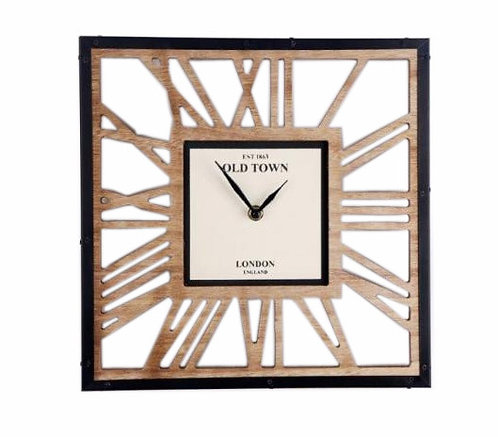 Wooden Cut Out Clock 30cm Shipping furniture UK