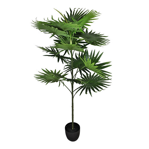 Artificial Fan Palm Tree with 14 leaves, 140cm Shipping furniture UK