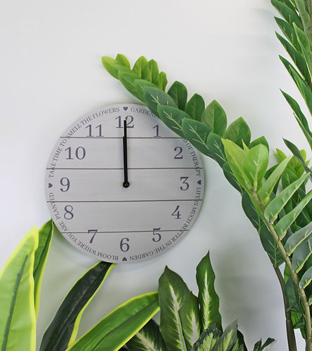 Potting Shed Clock in Sage Green Shipping furniture UK