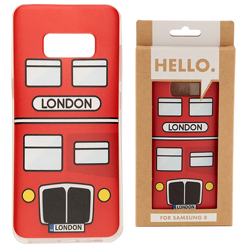 Samsung 8 Phone Case - London Bus Novelty Gift