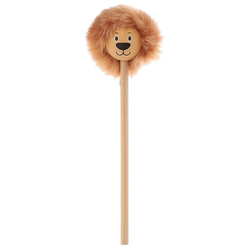 Fun Lion Pencil with Fluffy Mane Novelty Gift