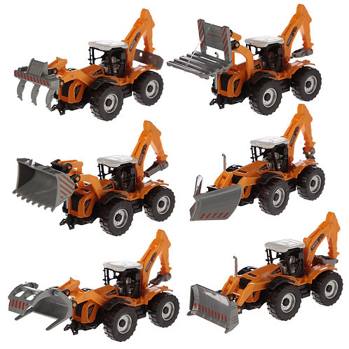 Fun Kids Diecast Tractor [Pack of 1] Novelty Gift
