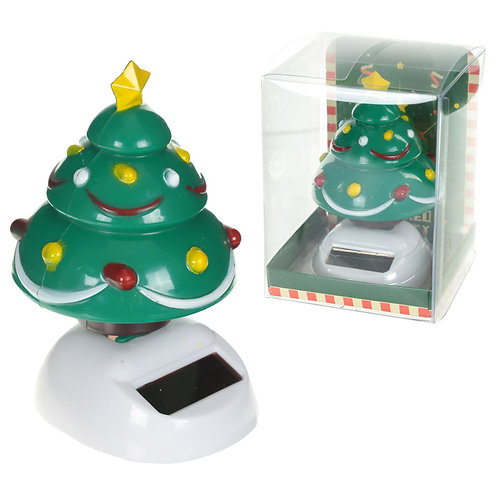 Novelty Gift Cute Christmas Tree Solar Powered Pal