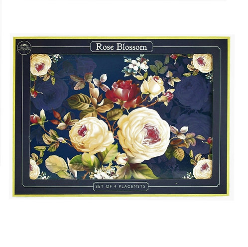 Rose Blossom Set of 4 Place Mats 30cm Shipping furniture UK