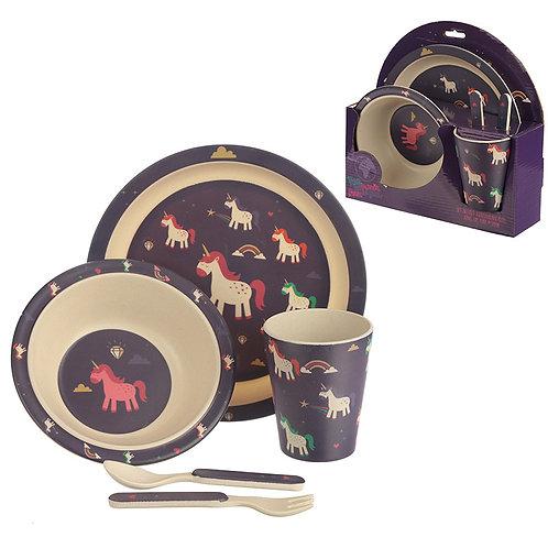 Bamboo Composite Unicorn Kids Dinner Set Novelty Gift
