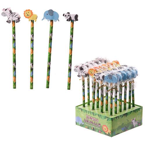 Novelty Kids Jungle Pencils Novelty Gift [Pack of 2]