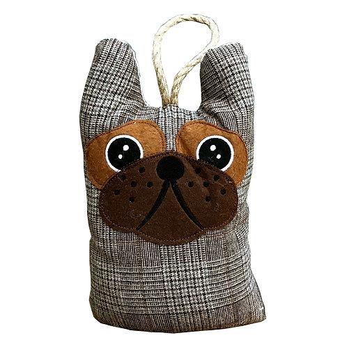 Dog Head Doorstop - Tweed Pattern Shipping furniture UK