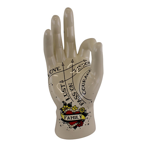 Palmistry Hand, Family, 22.5cm Shipping furniture UK