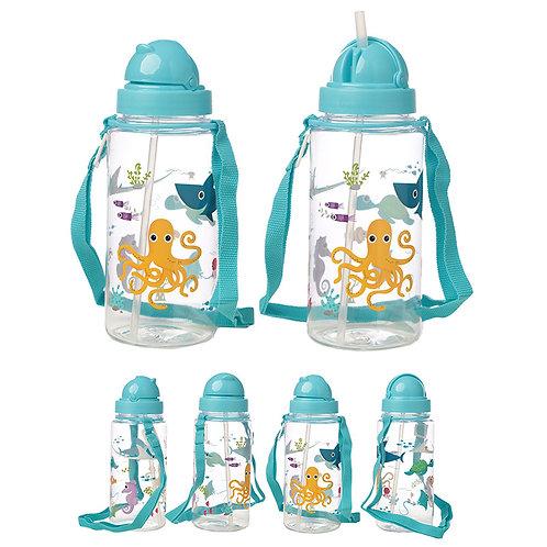 Fun Sealife Design 450ml Childrens Water Bottle Novelty Gift