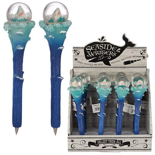Fun Shark Waterball Novelty Pen Novelty Gift [Pack of 2]