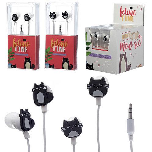 Funky Earphones - Cat Design Novelty Gift