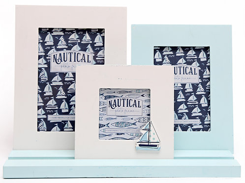 Boat Sea Life Three Frames on Tray Shipping furniture UK