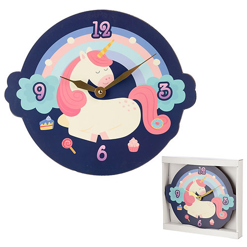 Cute Sweet Dream Unicorn Shaped Wall Clock Novelty Gift