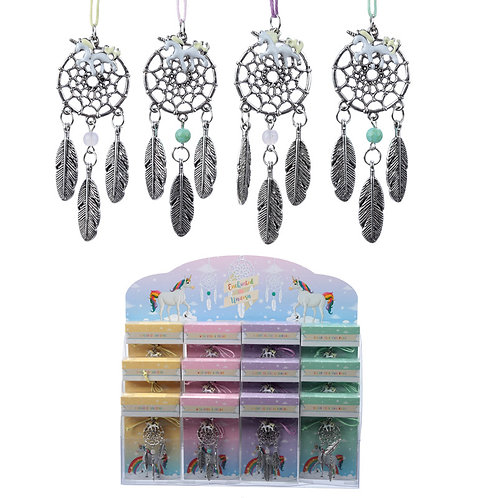 Novelty Gift Mini Collectable Enchanted Unicorn Dreamcatcher