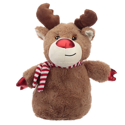 Fun Christmas Reindeer Plush Door Stop Novelty Gift