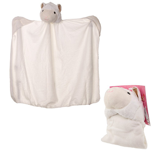 Plush White Llamapalooza Wearable Blanket Novelty Gift