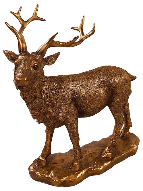 Reflections Bronzed Stag 19cm Shipping furniture UK