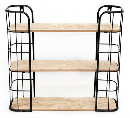 Wire Wooden Wall Shelf Shipping furniture UK