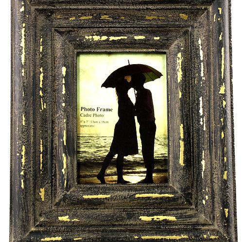 Distressed Brown & Gold Photo Frame Takes 5 X 7 Photo Shipping furniture UK