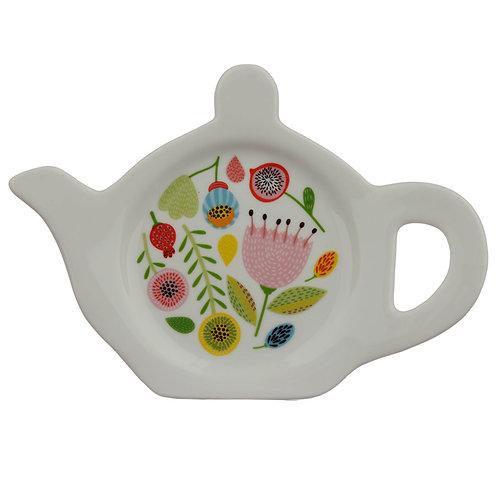 Porcelain Teabag Dish/Holder - Autumn Fall Novelty Gift