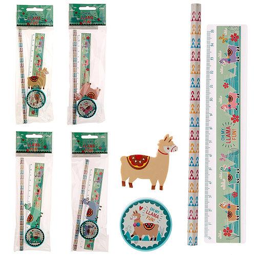 Cute Llama Design Stationery Set Novelty Gift