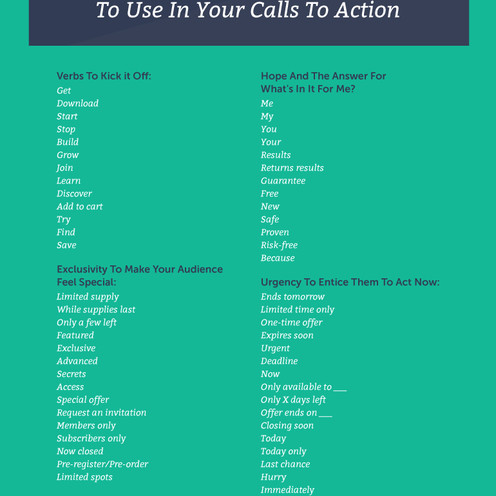 54 Words & Phrases to Make Your Website More Persuasive [Infographic]
