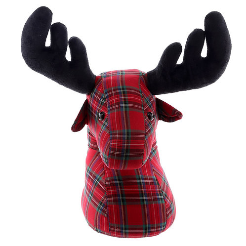 Cute Tartan Stag Design Door Stop Novelty Gift