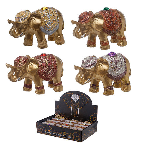 Cute Mini Collectable Elephant Incense Stick Holder Novelty Gift